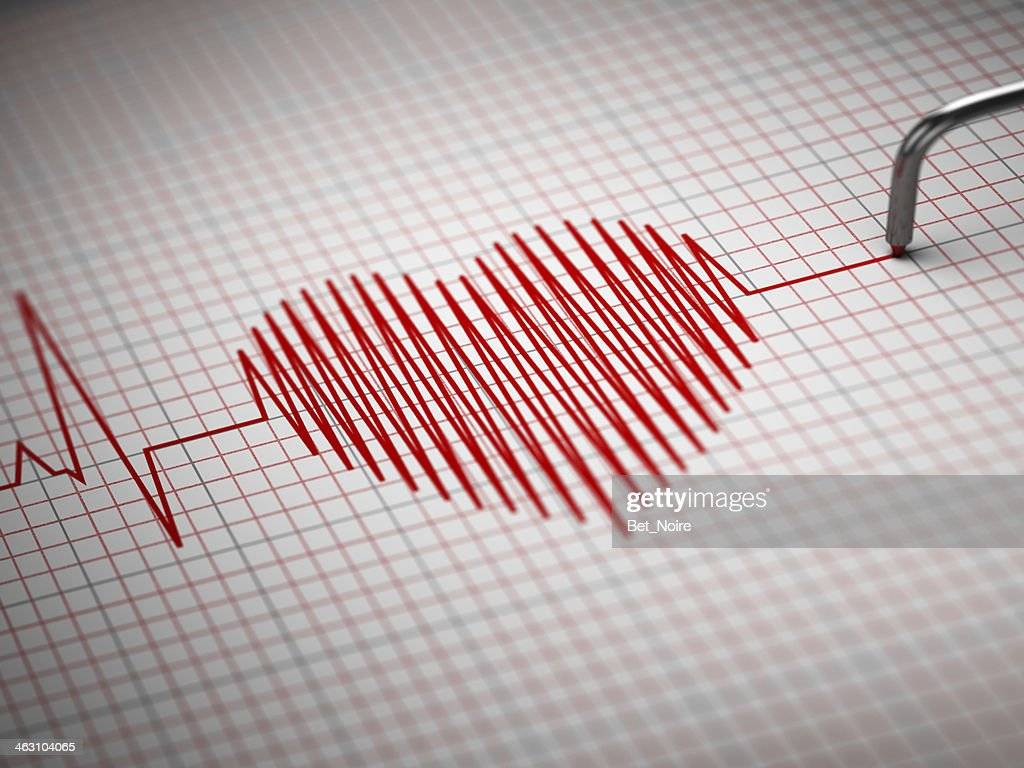 electrocardiogram and heart beat shape picture id463104065