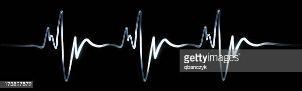electrocardiogram. xxxl - pulse trace stock pictures, royalty-free photos & images