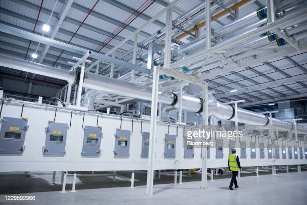Electrode drying ovens at the U.K. Battery Industrialization Centre in Coventry, U.K. On Monday, Nov. 9, 2020. The Centre is a 130 million pound...