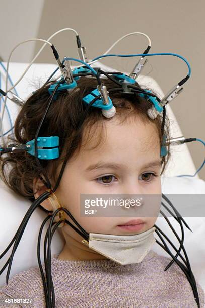 Electroencephalogram on a 4year old girl