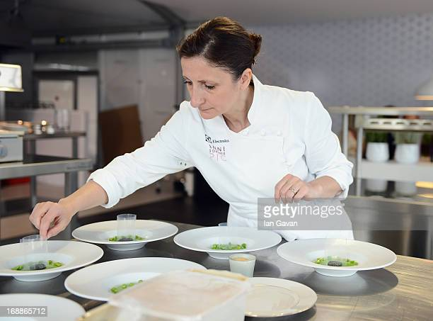 Electrolux partner chef AnneSophie Pic attends Chef's Table by Electrolux with AnneSophie Pic at Electrolux Agora Pavilion on May 16 2013 in Cannes...