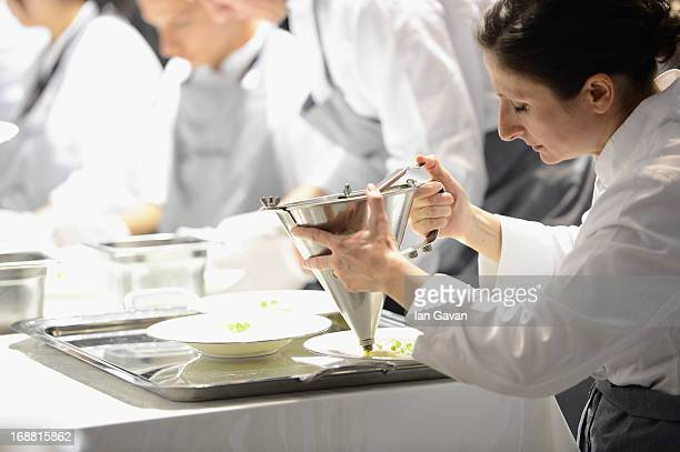 Electrolux partner chef AnneSophie Pic attends the Gala Dinner Preparation at Electrolux Agora Pavilion on May 15 2013 in Cannes France