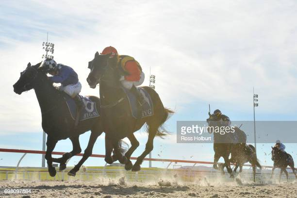 Electrolyte ridden by Noel Callow wins the ISG Projects Maiden Plate at Racingcom Park Synthetic Racecourse on June 20 2017 in Pakenham Australia