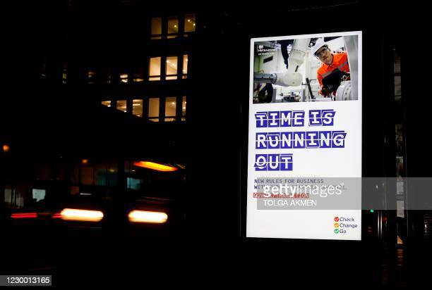 Electronic adverts, promoted by Britain's Government, alert businessess that they need to be ready for the end of the 'Brexit transition period' are...