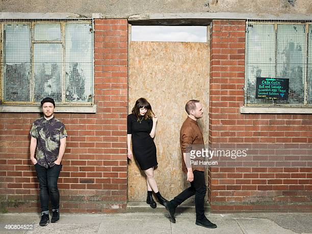Electronic band Chvrches are photographed for Under the Radar magazine on June 23 2015 in Glasgow Scotland