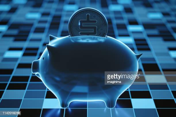 electronic banking und digital wallet - kryptowährung stock-fotos und bilder