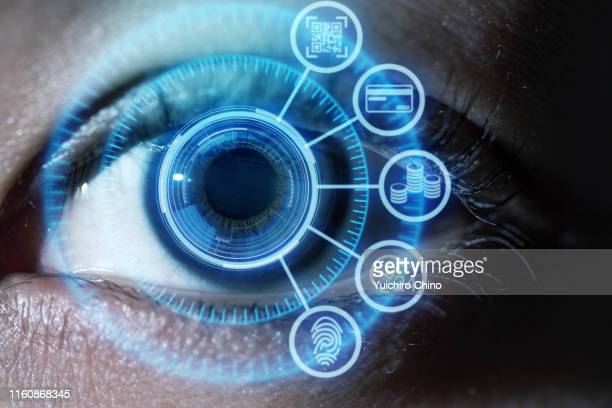 electronic billing payment concept - the eyes have it stock pictures, royalty-free photos & images