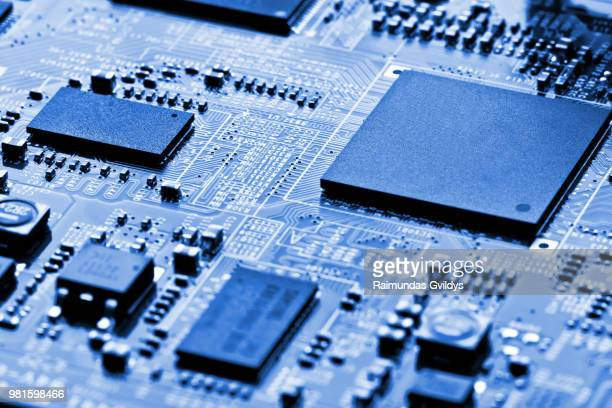 electronic circuit board close up - elétron - fotografias e filmes do acervo