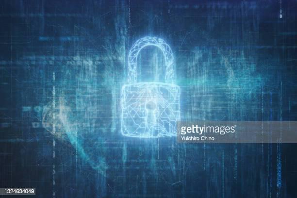 electronic circuit padlock and data background - gafam imagens e fotografias de stock