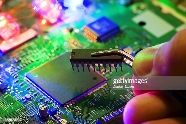 Electronic circuits in the light of the laser.