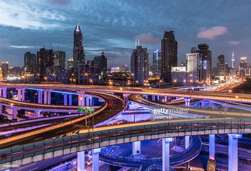 Electronic city : Foto de stock