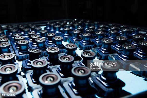 Electronic components sit at the Magna International Inc office in Holly Michigan US on Friday Sept 9 2016 Magna the world's biggest contract...
