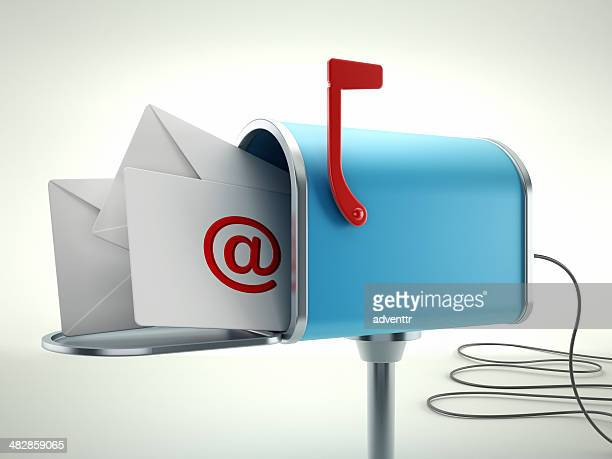 electronic mailbox with envelopes - send stock pictures, royalty-free photos & images