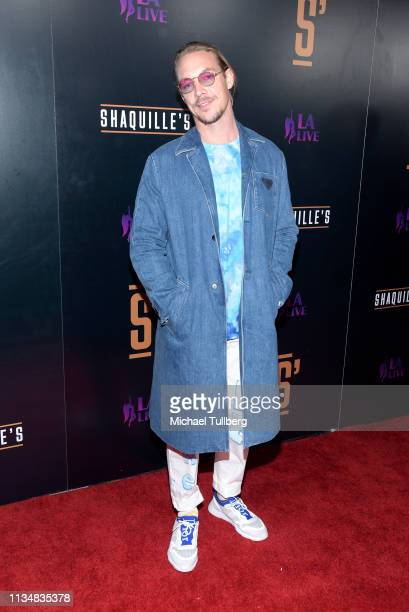 Electronic music artist Diplo attends the grand opening of Shaquille's At LA Live at LA Live on March 09 2019 in Los Angeles California