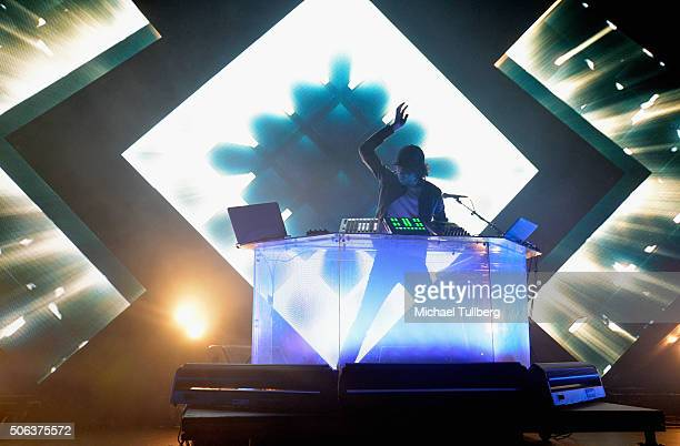 Electronic music artist Madeon performs at Club Nokia on January 22, 2016 in Los Angeles, California.