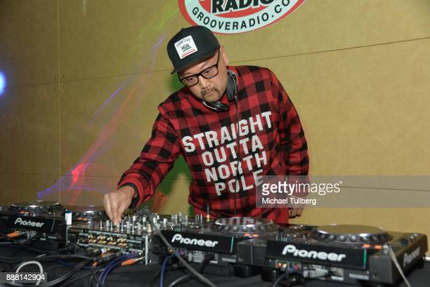 Electronic music artist Simply Jeff performs at Groove Radio's 14th annual Holiday Groove live broadcast and toy drive on December 7 2017 in Los...
