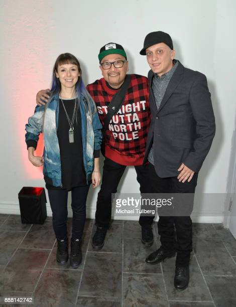 Electronic music artists Reid SApeed Simply Jeff and Mols attend Groove Radio's 14th annual Holiday Groove live broadcast and toy drive on December 7...