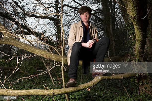 Electronic music producer and singersongwriter James Blake is photographed for the Observer on April 3 2013 in London England