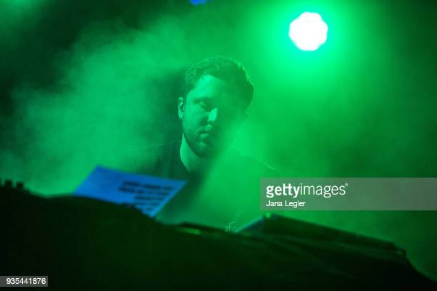 Electronic musician George FitzGerald performs live on stage during a concert at Schwuz on March 20 2018 in Berlin Germany