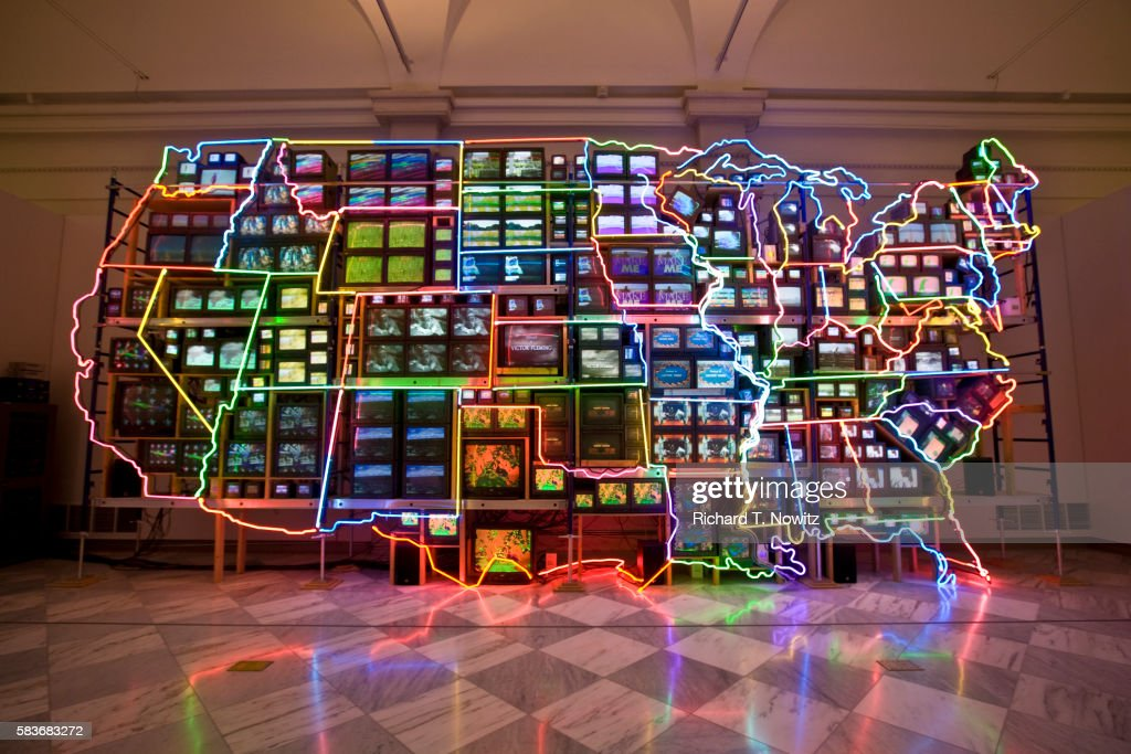 Electronic Superhighway by Nam June Paik : Stock Photo