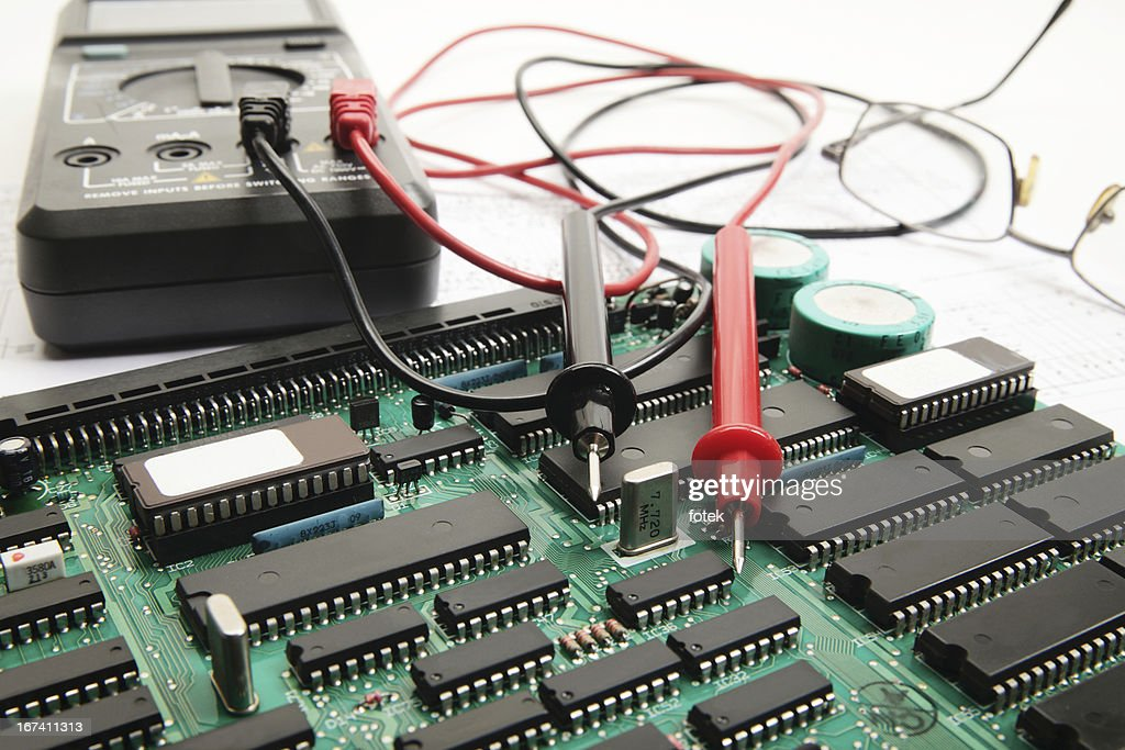 Electronic technician : Stockfoto