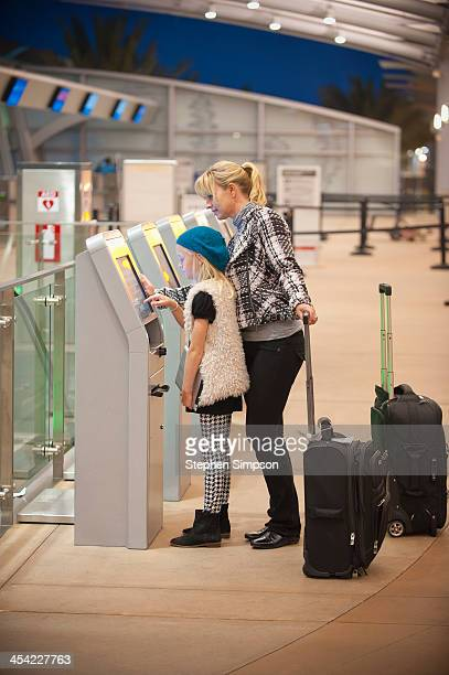 electronic ticket vending machines at the airport
