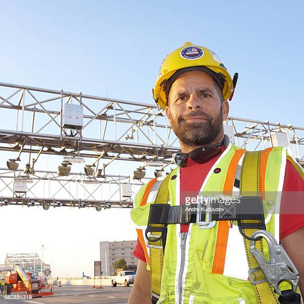 Electronic toll collection electrician, portrait
