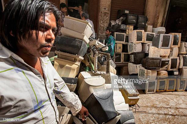 CONTENT] Electronic waste collects in piles at Seelampur in Delhi India