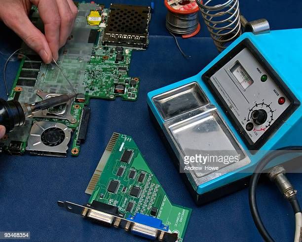 electronics repair - spoil system stock pictures, royalty-free photos & images