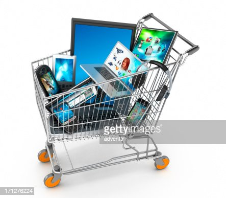 Electronics shopping stock photo getty images for Comprare mobili su internet