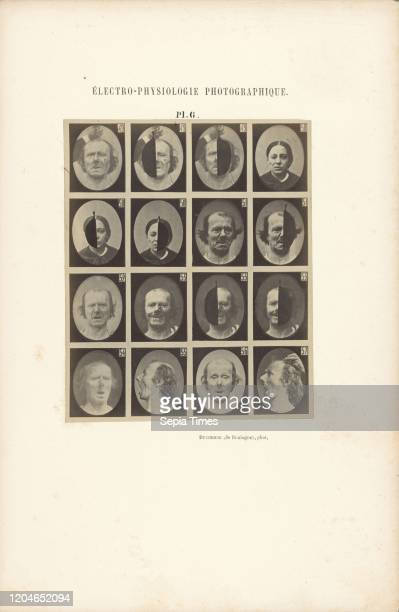 Electro-Physiologie Photographique, Planche 6, Guillaume-Benjamin Duchenne , France, negative 1852 - 1856, print 1876, Albumen silver print, 13.6 _...