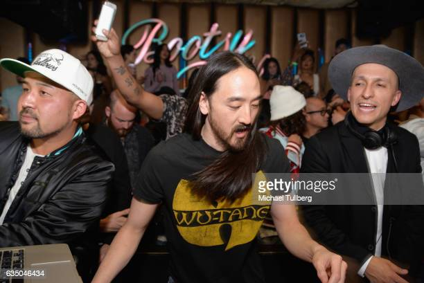 Electrronic music artist Steve Aoki performs at his I'll Sleep When I'm Dead GRAMMY After Party at Bootsy Bellows on February 12 2017 in West...