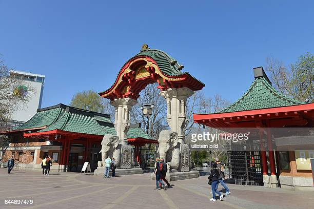 Elefantentor, Zoologischer Garten, Budapester Strasse, Tiergarten, Berlin, Deutschland