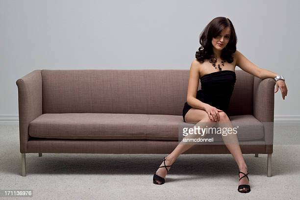 elegance - beautiful legs in high heels stock photos and pictures