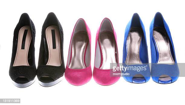 Elegance shoes in a row