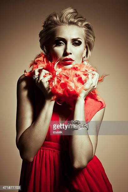Mulher de elegância, Glamour Retrato