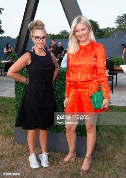 Elegant Affairs President Andrea Correale and Editor-in-Chief Anetta Nowosielka attend the Hamptons Magazine x The Chainsmokers VIP Dinner at The...