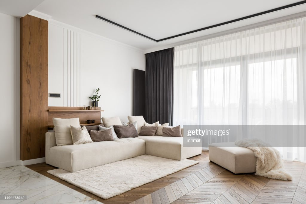 Elegant and comfortable living room : Stock Photo