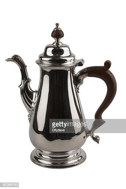 Elegant Antique Silver Plate Coffee Pot