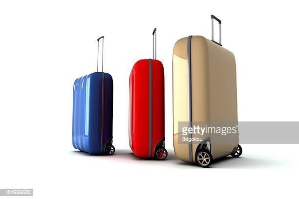 elegant baggage - wheeled luggage stock photos and pictures