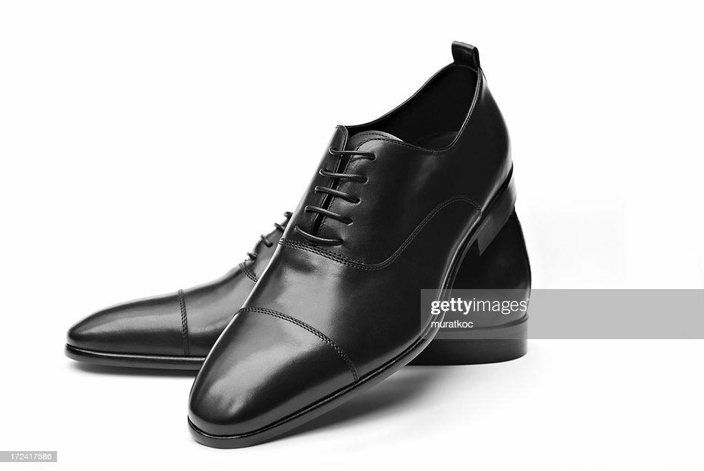 Elegant Black Leather Shoes : Stockfoto