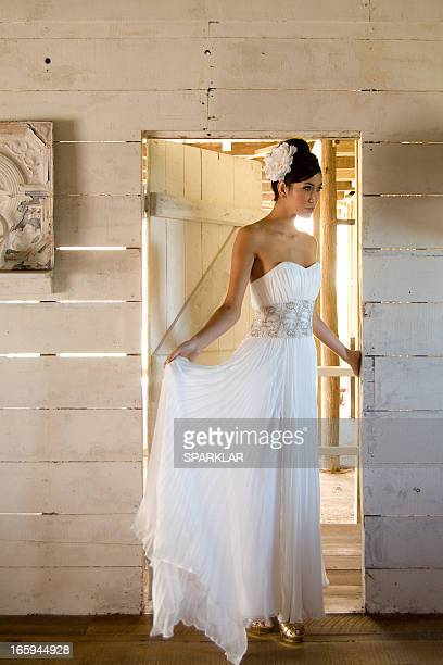 elegant bride - strapless stock photos and pictures