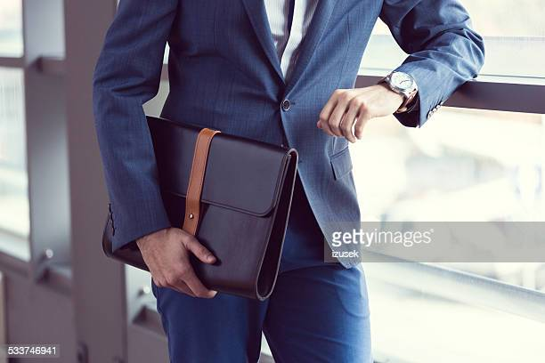 elegant businessman in the office - personal accessory stock pictures, royalty-free photos & images