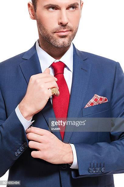 Elegant businessman wearing suit