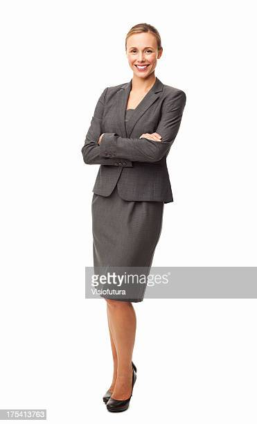 Elegant Businesswoman Smiling - Isolated
