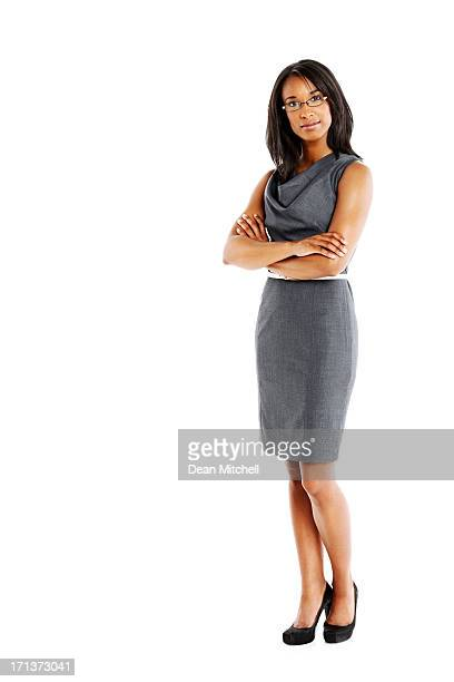 Elegant businesswoman with arms crossed