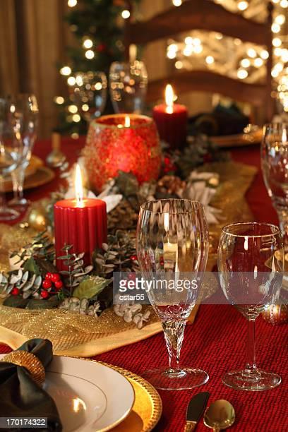 エレガントなクリスマステーブル