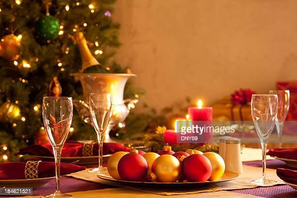 Élégant cadre de table de Noël