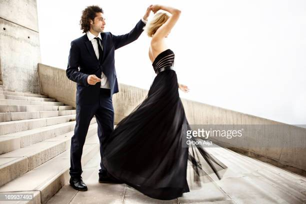 Elegant couple dancing together