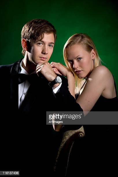 elegant couple - white tuxedo stock pictures, royalty-free photos & images